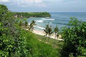 Objek wisata pantai Balangan Bali