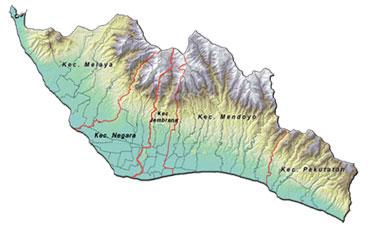 Peta Wilayah Kabupaten Jembrana