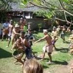Upacara perang pisang – mesabatan biu di Tenganan
