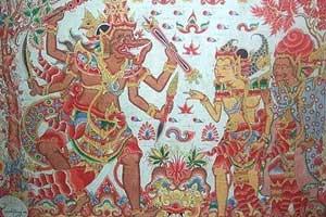 Seni lukis Wayang di Kamasan