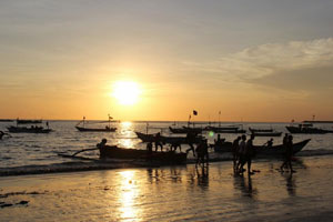 Aktifitas nelayan di Kedonganan